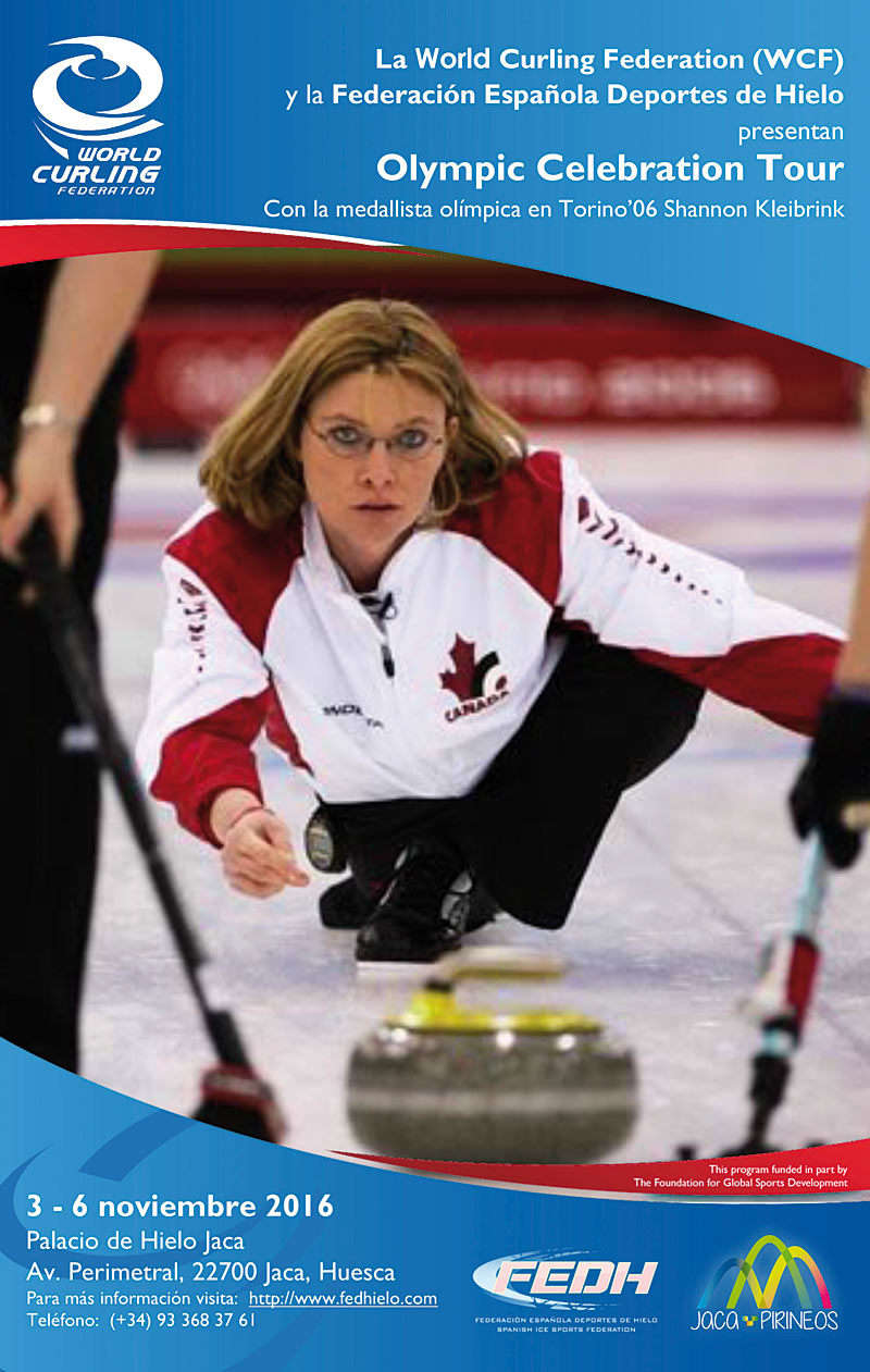 Una medallista olímpica de Canadá hará una demostración de curling en Jaca