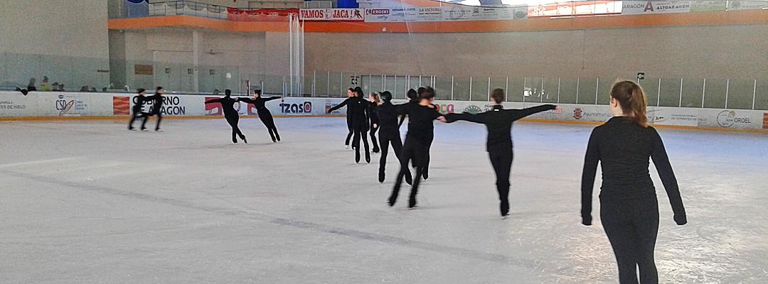El Pabellón de Hielo de Jaca centro de entrenamiento del equipo campeón del mundo de patinaje sincronizado