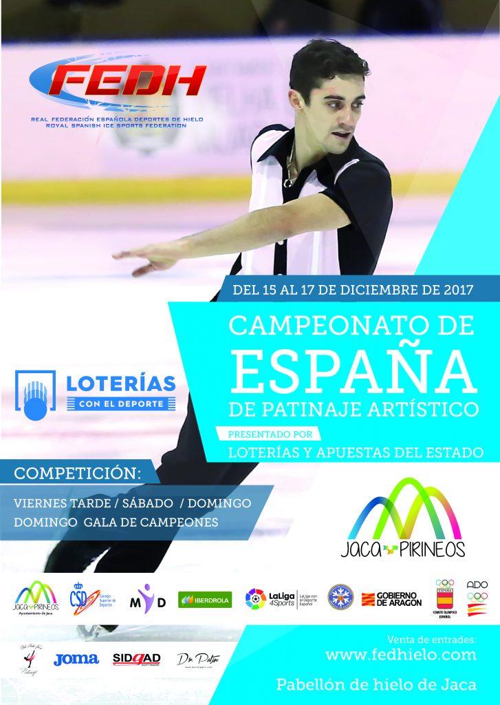 Campeonato de España de Patinaje Artístico, que se celebra en Jaca del próximo 15 al 17 de diciembre.