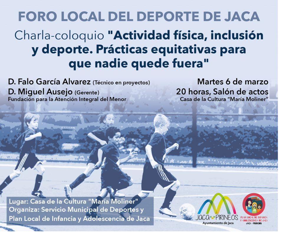"""Charla-coloquio """"Actividad física, inclusión y deporte. Prácticas equitativas para que nadie quede fuera"""""""