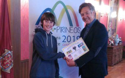 Entrega del premio del concurso de Selfies Jaca Villa Europea del Deporte