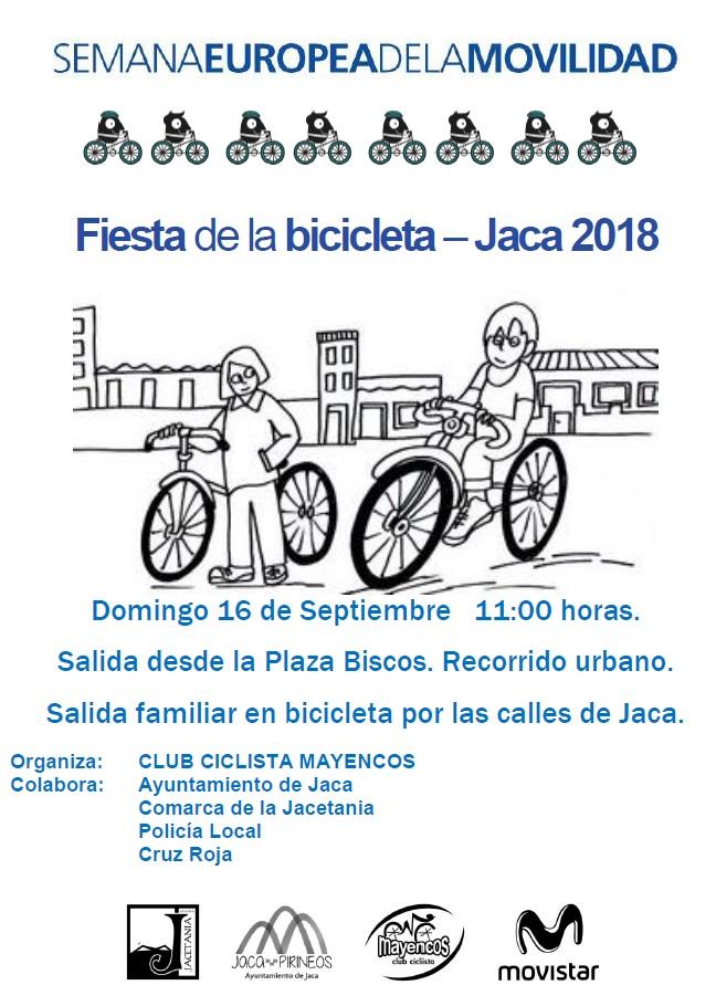FIESTA DE LA BICICLETA 2018 en Jaca, dentro de la SEMANA EUROPEA DE LA MOVILIDAD.