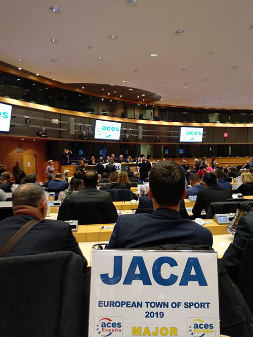 Jaca fue seleccionada entre las ciudades españolas que aspiraban al título por parte de ACES, la entidad internacional que bajo el auspicio de las instituciones europeas otorga esta distinción para impulsar el fomento del deporte en la geografía europea. Jaca fue la única ciudad de ARAGÓN que optaba a ser elegida.