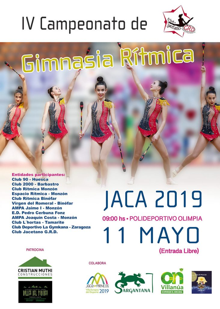 IV Campeonato intercomarcal y autonómico de Gimnasia Rítmica en Jaca