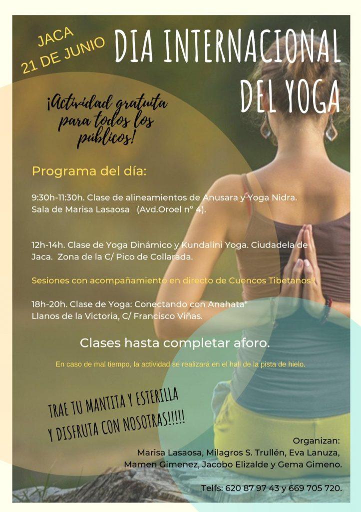 Día internacional del yoga en Jaca.