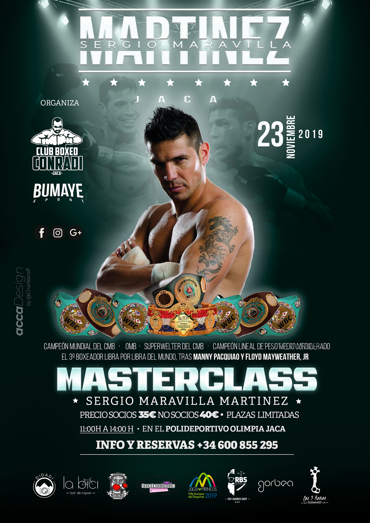 El doce veces campeón del mundo, Sergio 'Maravilla' Martínez este sábado 23 en Jaca