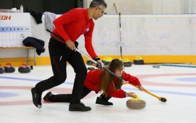 Jaca acoge la XIII edición del Campeonato de España de Curling de Dobles Mixtos
