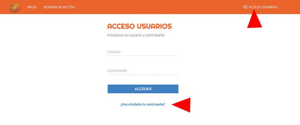 Entra en Acceso usuarios https://aytojaca.deporsite.net/login Date de alta como usuario. Para ello, la primera vez debes marcar ¿Has olvidado tu contraseña?