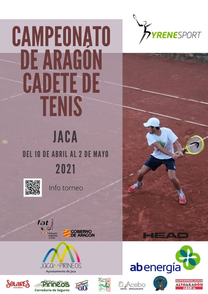 Jaca acogerá, por primera vez, el Campeonato de Aragón de Tenis Cadete de la Federación Aragonesa de Tenis, que tendrá como escenario las instalaciones de PyreneSport y que se celebrará entre el 10 de abril y el 2 de mayo. El torneo está organizado por el Club Deportivo Pyrene y AB Energía es el patrocinador oficial. La competición cuenta, además, con el apoyo del Ayuntamiento de Jaca.