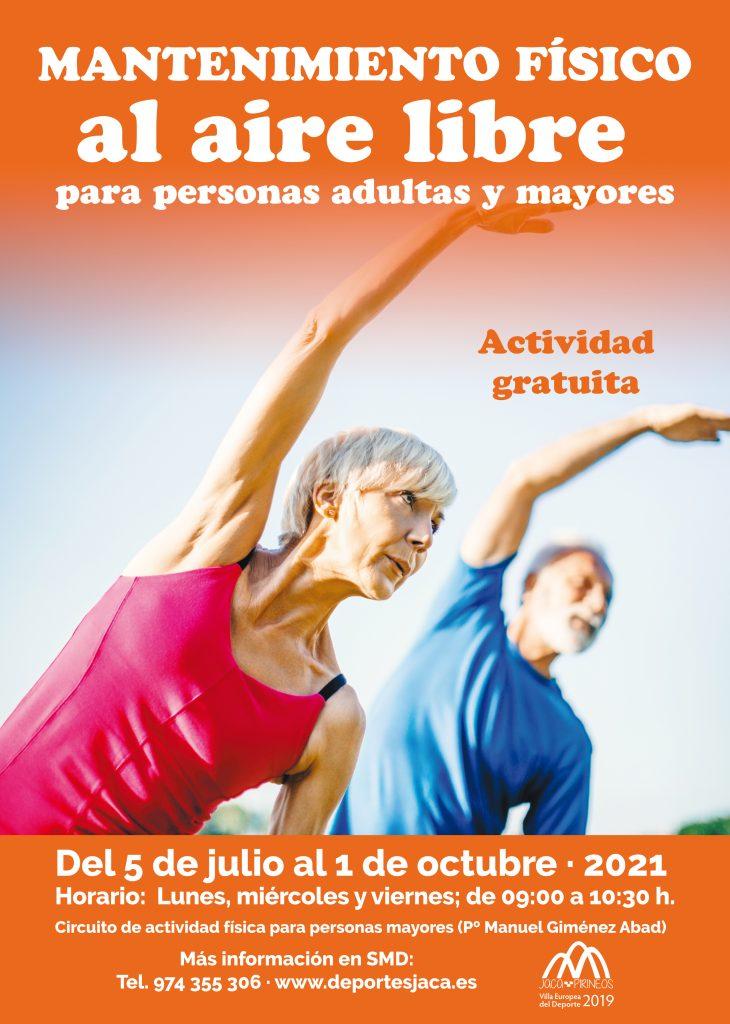 El Servicio Municipal de Deportes de Jaca retoma el programa de actividad física al aire libre orientado a personas adultas y mayores