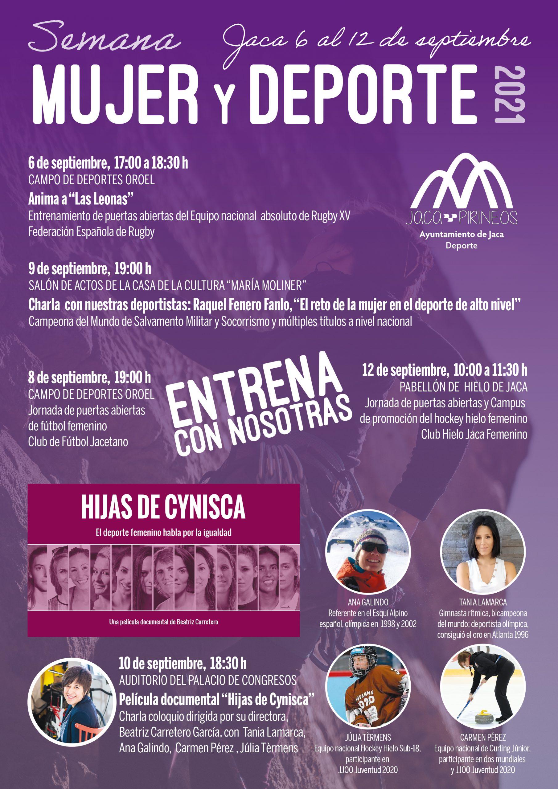 Semana Mujer y Deporte Jaca, del 6 al 12 de septiembre